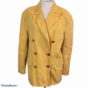 Banana Republic Double Breasted Trench Coat Yellow